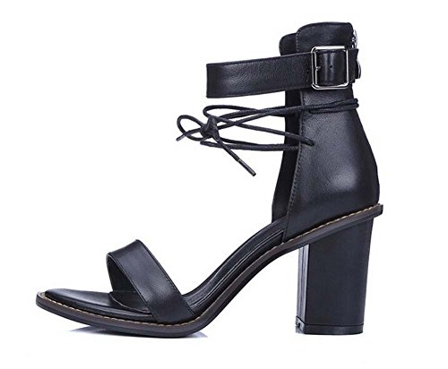 Beauqueen Casual Pumps Party Work Chaussures en cuir Summer Women Slingbacks Chunky Simple Vintage Europe Taille 34-39 Black