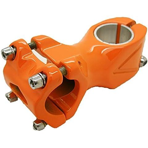 Potencia Ahead de Aluminio Color NARANJA Angulo de 7 grados 25.4 60mm para Bicicleta FIXIE