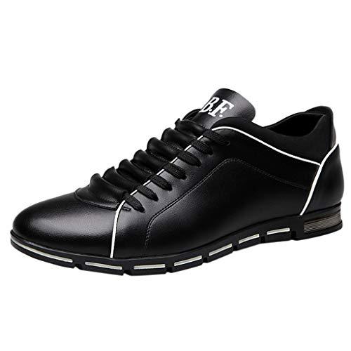 e Herrenmode aus festem Leder Business Zehe Freizeitschuhe Stiefel Stiefeletten Wanderstiefel Combat Hallenschuhe Worker Boots Laufschuhe Sports ()