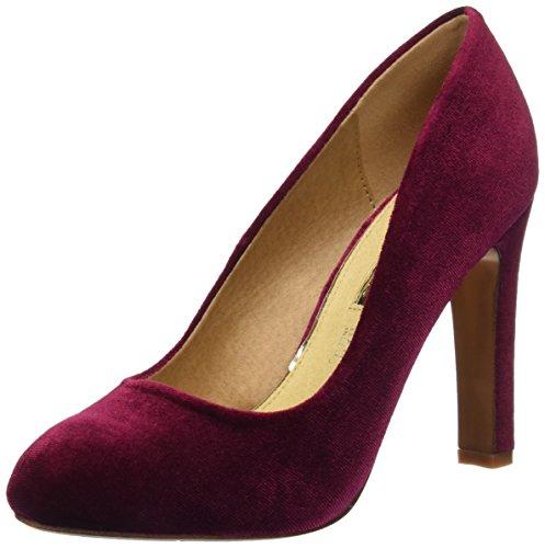 MARIA MARE Damen Chanty Geschlossene Schuhe mit Absatz, Rot (Samt Bordeaux), 38 EU