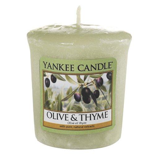 Yankee Candle 1507725E - 49 g Oliva y tomillo Vela Votiva color Verde