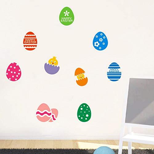 Yzybz Happy Easter Rabbit Vinyl Aufkleber Kunst Wandaufkleber Diy Home Room Decor 2019 Ostertag Baby Zimmer Bunte Wandaufkleber (Halloween Happy Zitate 2019)