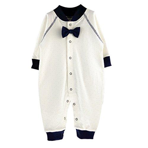 Zhhlaixing Unisex bébé Boys Girls Cotton Long Sleeve Rompers Newborn Jumpsuit