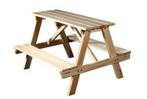 SixBros. Kinder Picknicktisch Gartengarnitur Kindersitzgruppe Holz Tisch/Bank Kiefer PTS-186-1/1158