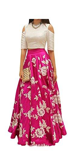 Vaankosh Fashion Pink Cotton Silk Western wear Dress for Women