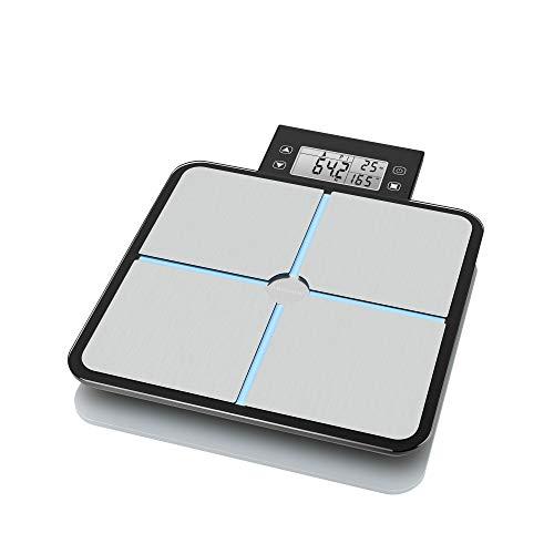 Medisana BS 460. Tipo: Báscula personal electrónica, Capacidad máxima de peso: 180 kg, Precisión: 100 g Control de energía -Indicación de batería baja: Si  Desempeño -Tipo: Báscula personal electrónica -Capacidad máxima de peso: 180 kg -Apagado autom...