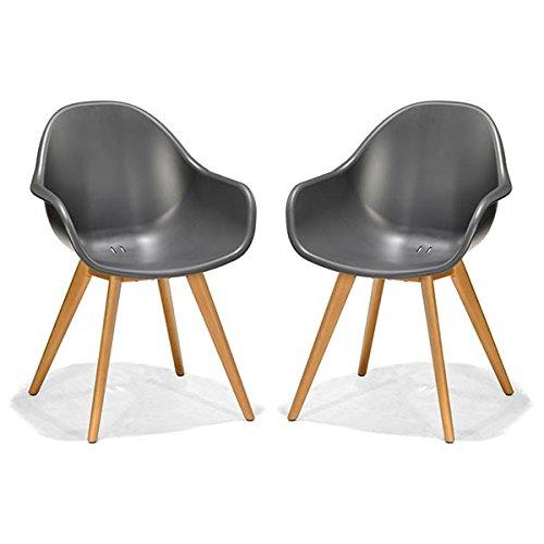 Mobilier fauteuils anthracite