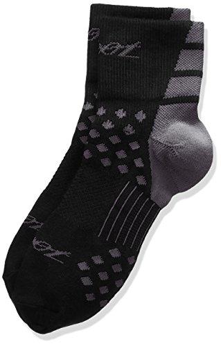 Zoot Sports Tt Quarter Sock, Herren, Schwarz/Graphitgrau, Large