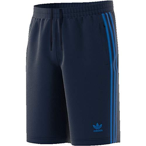 Streifen-baumwoll-shorts (adidas Herren 3-Streifen Shorts, Collegiate Navy/Bluebird, M)
