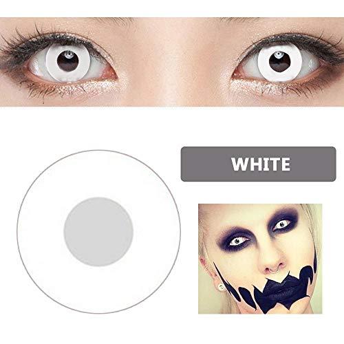 KOBWA 100 PACK Adultos de Halloween Hombres Señoras Carnaval Cosmético Vestido de Lujo Ropa de Ojos Accesorio Mezclas Cosplay Encanto Lindo y Moda Atractiva Lentes de Contacto Maquillaje Sombra de Ojos