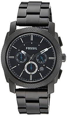 Fossil FS4552 de cuarzo para hombre con correa de acero inoxidable, color negro