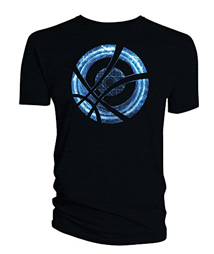 Doctor Strange T-Shirt Blue Symbol Circle black Size XL Titan Merchandise shirts