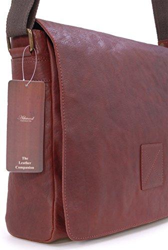 """Umhängetasche / für Laptop geeignete Tasche """"Pedro"""" von Ashwood - GRÖßE: B: 39 H: 28 T: 10 cm Cognac Braun"""