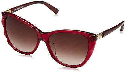 Swarovski sk0117f-5769f occhiali da sole, rosso (shiny bordeaux), 57 donna