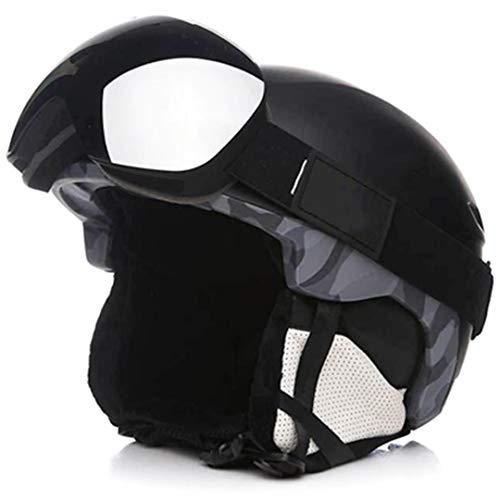 Mann/Frau / Kinder Skihelm/Skibrillen Sets Snowboard Helm Skateboard Schneemobil Maske Fast Moto Bike Radfahren Klettern Sport Sicherheit No.19 L 59-64cm