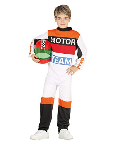 Horror-Shop Rennfahrer Kostüm für Kinder   M, L, XL M (Motocross Kostüm Kinder)