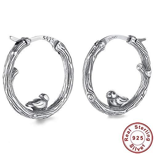 ZHWM Ohrringe Ohrstecker Ohrhänger 925 Sterling Silber Tier Vogel Creolen Klassische Authentische Silber Schmuck Brincos Geschenk