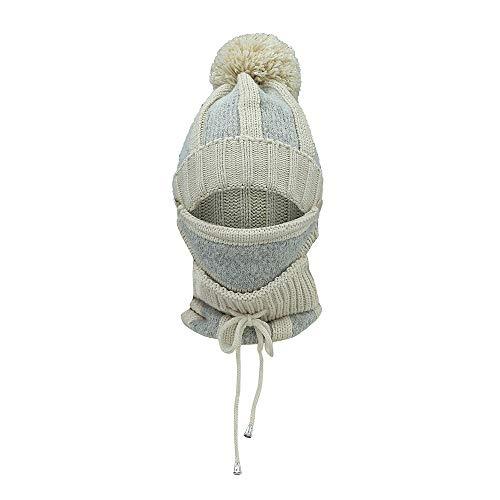 JMETRIC Damen Beanie l Hat Strickmütze l WintermützelOhrenschützer StrickmützelWarme Mütze lMaske Schal Hairball Warme ()