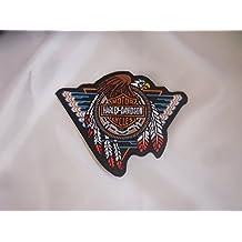 –Parche para planchar Harley Davidson 13x 10cm águila Calavera Eagle Shield Moto Motocicleta Club