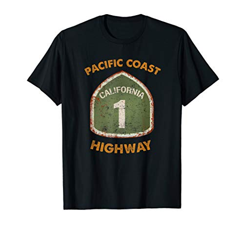 California State Route One, Pacific Coast Highway Souvenir T-Shirt