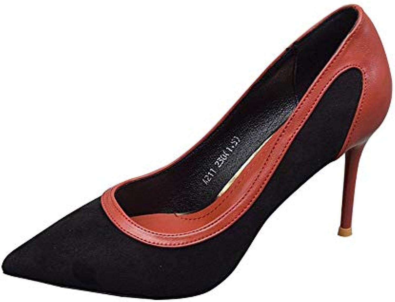 FLYRCX Stiletto de Couleur européen Sexy européen Couleur Pointu Bouche Peu Profonde Talons Hauts Chaussures Dames Chaussures de...B07HN5D5G6Parent e41155