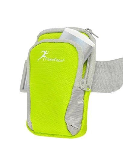 FakeFace Neu Retro Armtasche Armband Tasche Unisex Oberarmtasche Schweißbänder Sport Tasche Geldbeutel Neopren für Sport Running Trekking Hiking Grün Blau Rose S M L 1