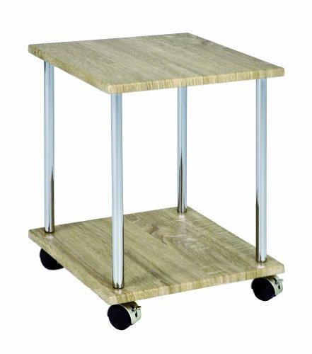 Haku Möbel 33040 Table d'Appoint Chromé/Chêne Clair 34 x 34 x 43 cm
