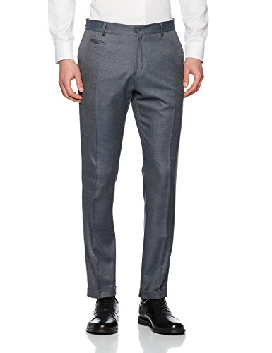 Selected Shdone-Louame Trousers Sts, Pantalon de Costume Homme Gris (Medium Grey Melange)