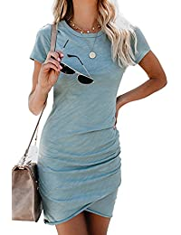 Walant Etuikleider Bleistftkleid Sommerkleid Damen Kurzarm Abendkleid  Rundhals Ausschnitt Elegant Minikleider Business… 0744f4c08a