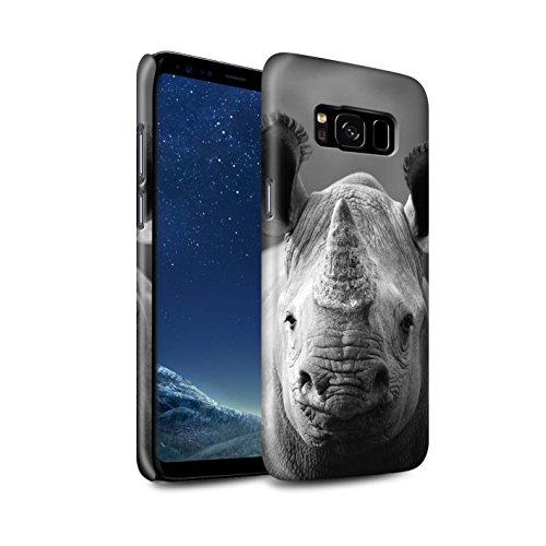Glanz Hülle Für Samsung Galaxy S8/G950 Zoo-Tiere Nashorn Design Glänzend Hart Schutz Handyhülle Case