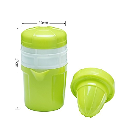 MinegRong Entsafter-Cup-einfacher Entsafter Mini orangeer Orangen-Entsafter Einfacher Mini Entsafter-Haushalts-Frucht-Handbuch, grün