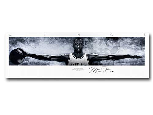 Michael Jordan Wings Kunst Poster Riesiger Leinwanddruck Basketball Bild Home Wall Decor 30 * 100 cm Ohne Rahmen -