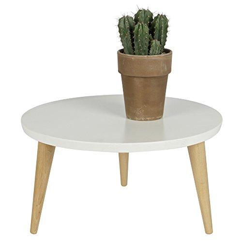 Table basse ronde rétro Ø50 Elin - Couleur - Blanc