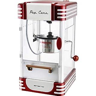 Emerio Popcornmaschine POM-120650, antihaftbeschichteter Behälter auch für süßes oder salziges Popcorn geeignet, 360 Watt