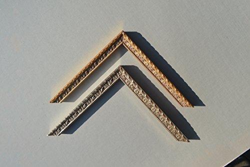 Bilderrahmen Weimar - Alt-Gold 36x48 cm 48x36 cm hier mit entspiegeltem Plexiglas