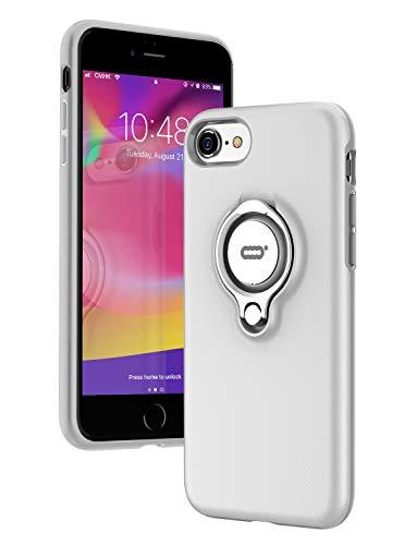 ICONFLANG iPhone 7 Hülle, iPhone 8 Tasche mit Ringständer, 360 Grad drehbarer Ring Grip Case, Dual Layer Stoßfest Schlagschutz für iPhone 8, iPhone 7,Kompatibel mit Magnetic Car Mount