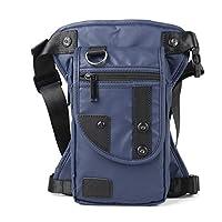 Trendy mode borsttas multifunctionele heuptas waterdicht nylon materiaal lichte heren diagonale tas A652 blauw-V652