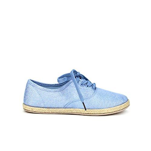 Cendriyon, Derbies façon espadrille KIENA Blue Chaussures Femme Bleu