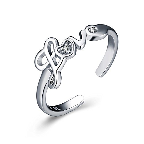 Para mujer Fashion Simple LOVE Letters dedo anillo