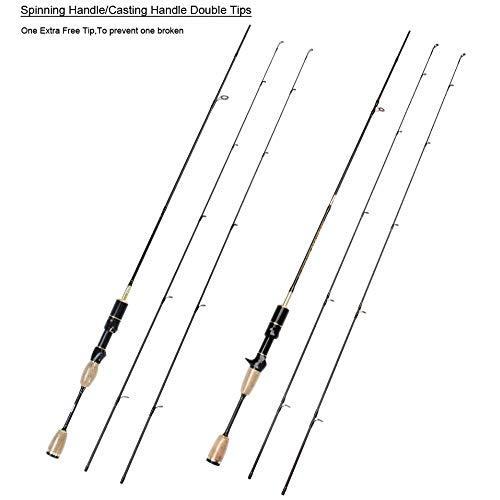 FISHYY Angelrute 1,8 m Weiche Casting Spinning Köder Angelrute Pole Cane 0,8-5g, 2-5LB Kohlefaser Ultraleichte Spin Rod -