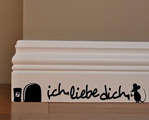 ebe dich Minie Loch Home Live Kids Funny Art Wand Aufkleber Aufkleber Baseboard Kinder Mäuse Sockelleiste (Diy-cornhole-set)