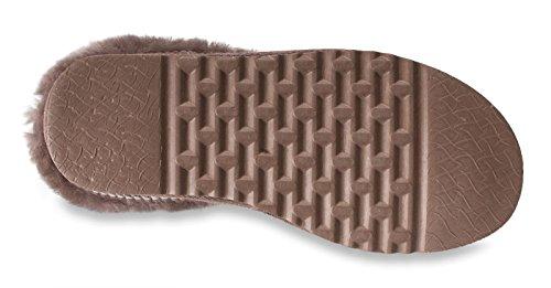 Nordvek - Stivali pantafole donna 100% vera pelle - Suola EVA - # 413-100 Tennè