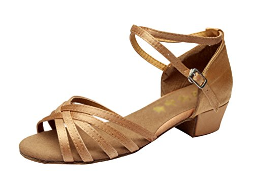Chaussures De Danse Hroyl / Chaussures Latines Filles De Satin Beige E-202 Eu 27 gfZoQw