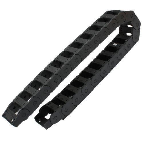Semi clos 25mm x 57mm plastique Corde chaîne Frein Noir