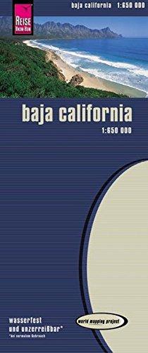 World Mapping Project, Baja California 1:650.000, Kartenbild 2seitig, klassifiziertes Straßennetz, Ortsindex, GPS-tauglich, wasserfest imprägniert Baja Gps