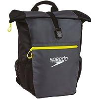 Speedo Team Rucksack III + Mochila, Unisex Adulto, Gris (Oxid Grey/Black/Fluo Yellow), Talla Única