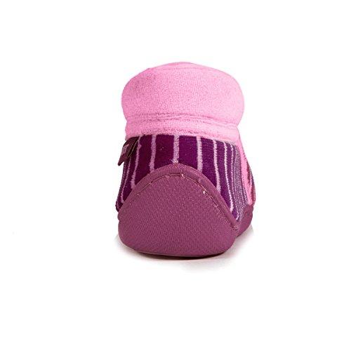Isotoner Chaussons bottillons zip fille Bébé Fille Multicolore