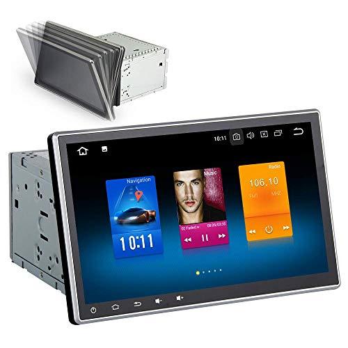 Dasaita 10 2 Zoll Android 9 0 Doppel Din Autoradio mit Bluetooth  Freisprecheinrichtung mit 4G RAM 32G ROM DAB+ Autoradio mit Navi  Unterstützung WiFi