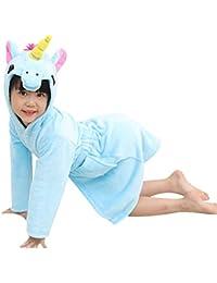 chicolife niños Chica Chico Albornoz camisón Unicornio Animales paño Grueso y Suave Ropa de Dormir Unisex