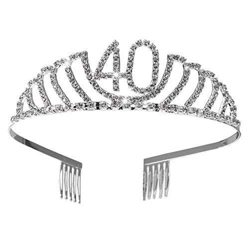Frcolor Corona Cumpleaños 40 Años Diadema Cumpleaños